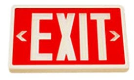 Exit sign is powered by tritium.