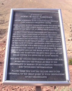 Plaque to Daniel Barringer