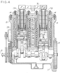 Cross-section from Papp patent; watch historical video at pappengine.com