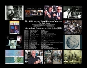 The back page of the 2013 History of Cold Fusion Calendar lists all the ICCFs held.
