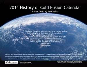 Front cover of 2014 History of Cold Fusion Calendar compiled by Ruby Carat.