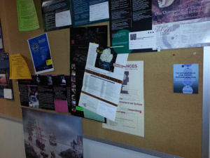 Postcard for LENR book on Caltech bulletin board.