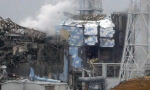 Fukushima nuclear fission power plant explosion.