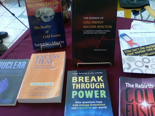 Books on display at our table.