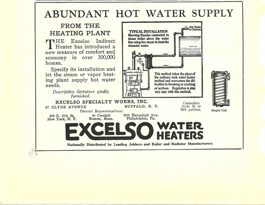 7 Excelso Heaters 1925