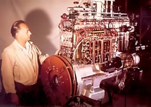 Joseph Papp with Noble Gas Engine courtesy Rohner Group