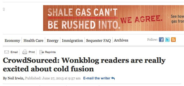 Washington Post blog cites Cold Fusion Now in LENR win – COLD FUSION