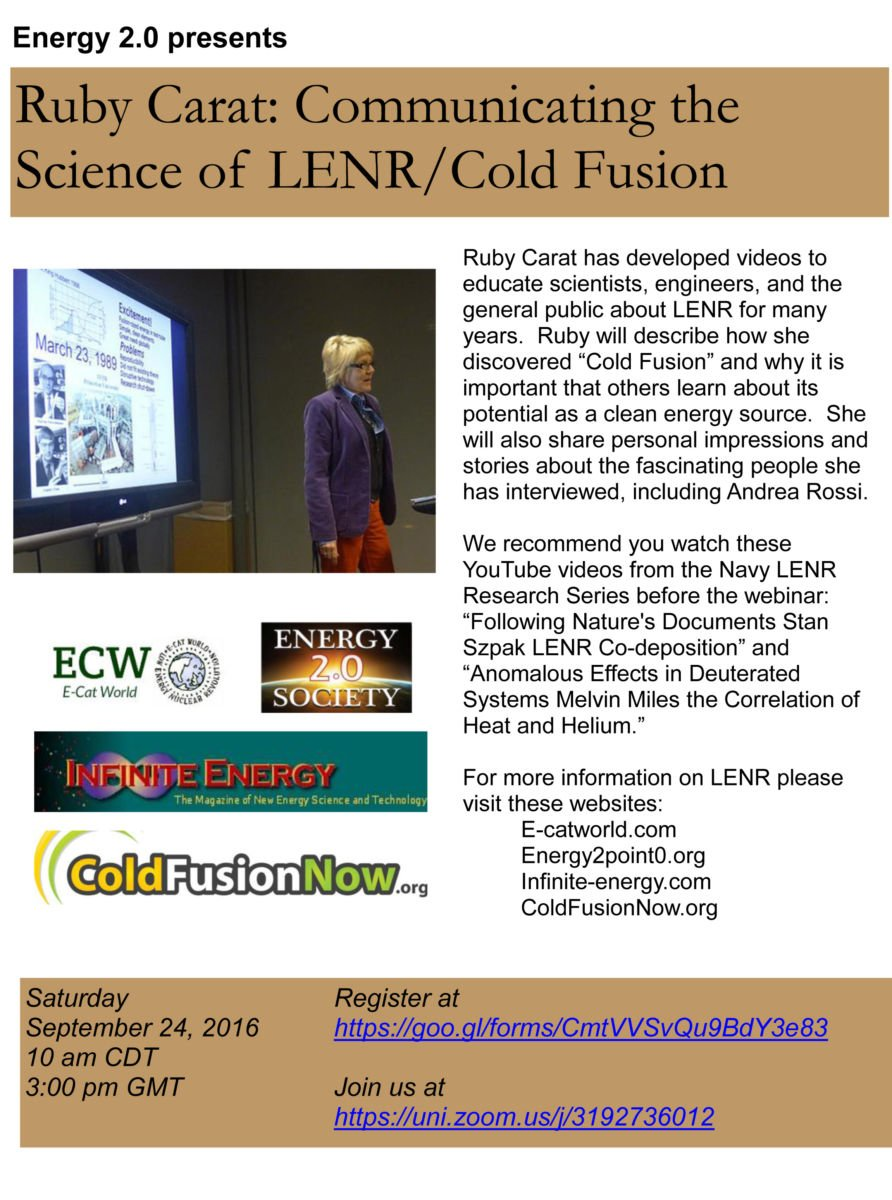 Video – COLD FUSION NOW!